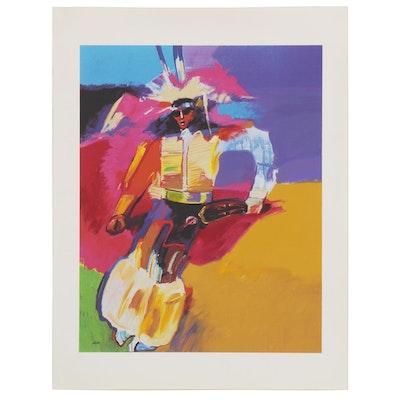 "John Nieto Serigraph ""Oklahoma Feather Dancer,"" 1996"
