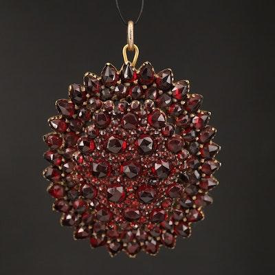 Victorian Garnet Cluster Converter Brooch