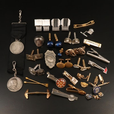 Vintage Tie Tacks, Cufflinks and Emblematic Jewelry