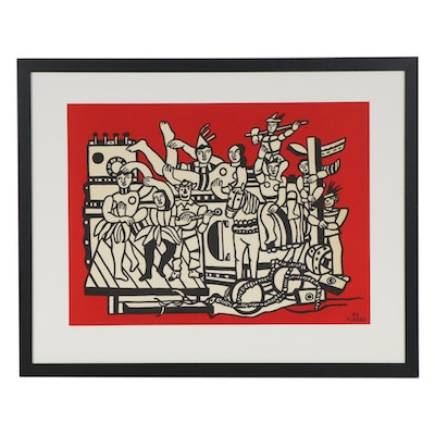 "Serigraph after Fernand Léger ""The Great Parade"""
