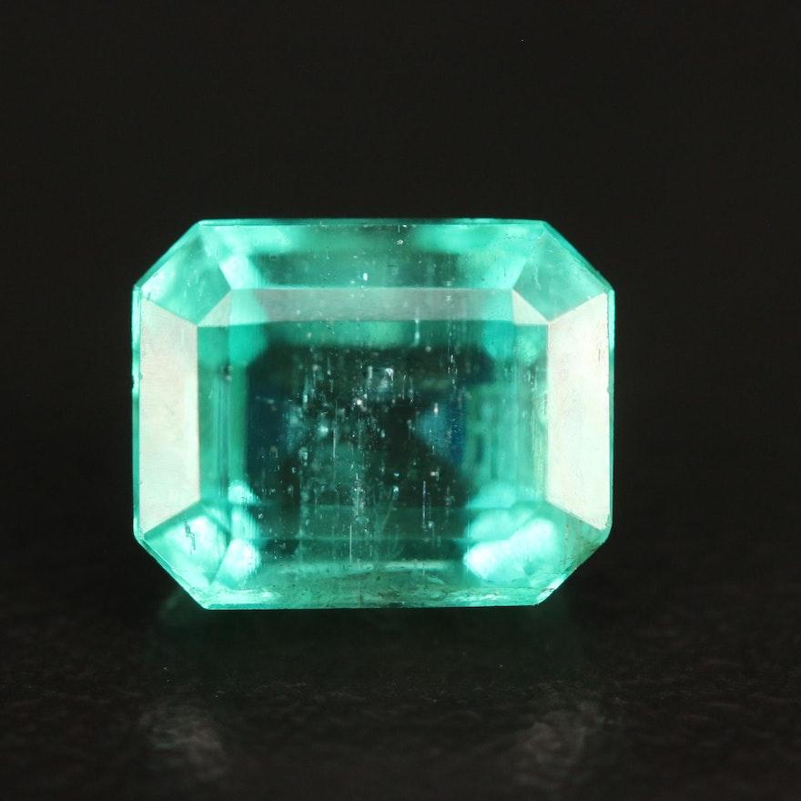Loose 3.05 CT Rectangular Faceted Emerald
