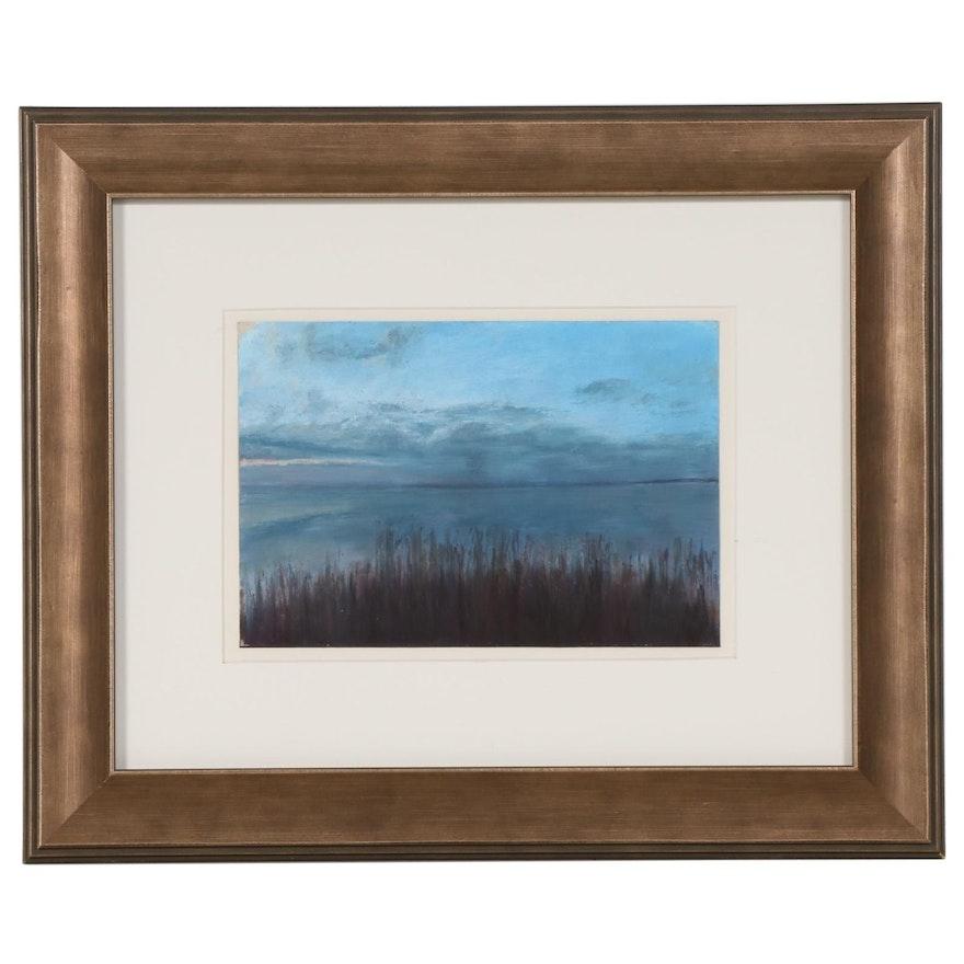 """Susan Singer Oil Pastel Drawing """"Lavender Light,"""" 2020"""