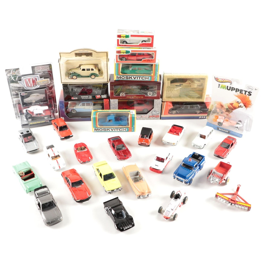 Chevrolet, Spar Mobil, Cadillac, Ford, Dodge, and Other Diecast Model Cars