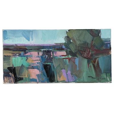 "Jose Trujillo Oil Painting ""Run Free,"" 2021"