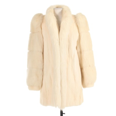 White Mink and Fox Fur Stroller by Evans Furs