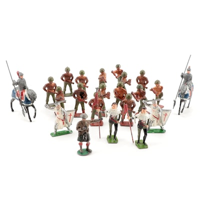 Britains Ltd. and Other Die Cast Lead Knights and Soldiers