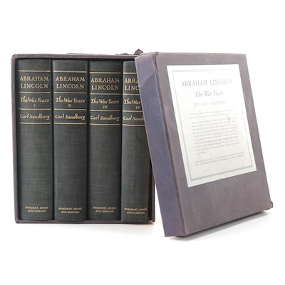 "First Trade Edition ""Abraham Lincoln: The War Years"" Complete Set by C. Sandburg"