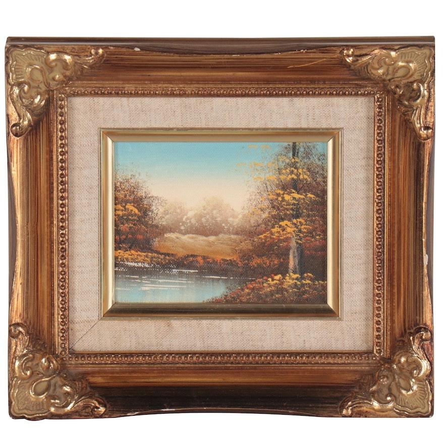 Autumn Landscape Oil Painting, 21st Century