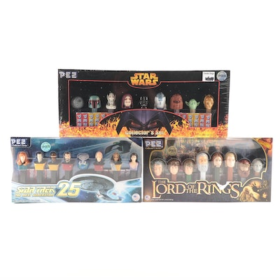 "PEZ ""Star Wars,"" ""Star Trek,"" and ""The Lord of the Rings"" Candy Dispenser Sets"