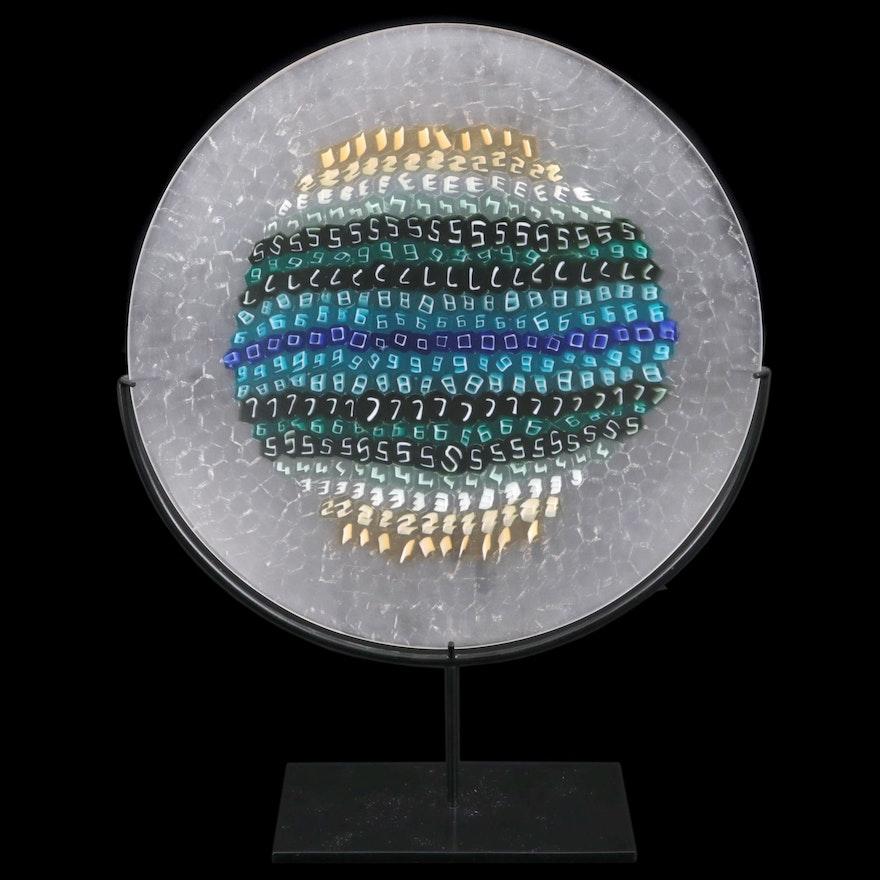 "Laura Diaz de Santillana for Venini Murano Art Glass ""Numeri"" Charger, 1998"