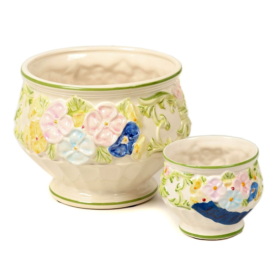 Jay Willfred for Andrea by Sadek Ceramic Floral Jardinières