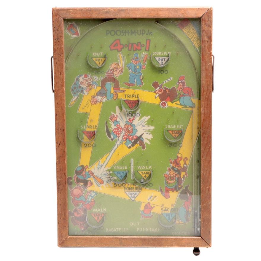 "Northwestern Products ""Poosh-M-Up Jr. Bagatelle Pinball Game, circa 1930s"
