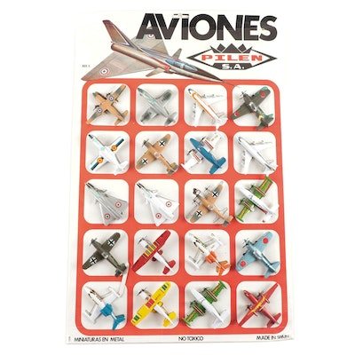 Aviones Miniature Die Cast Model Aircraft Store Display with Shipping Carton