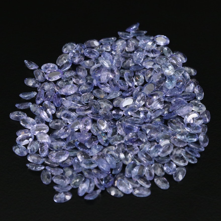 Loose 54.18 CTW Oval Faceted Tanzanite