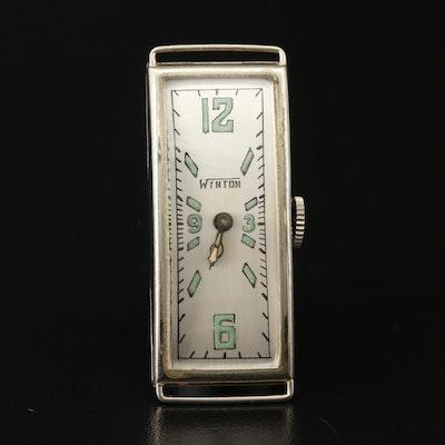 Winton 14K Gold Stem Wind Wristwatch