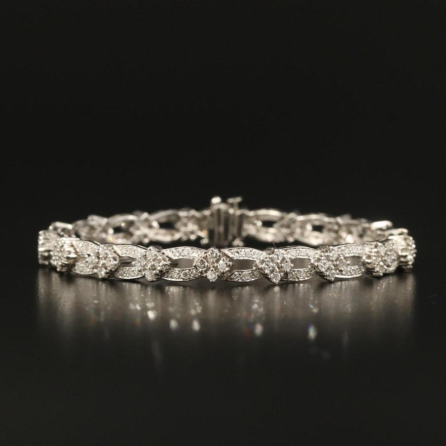 14K 3.20 CTW Diamond Bracelet