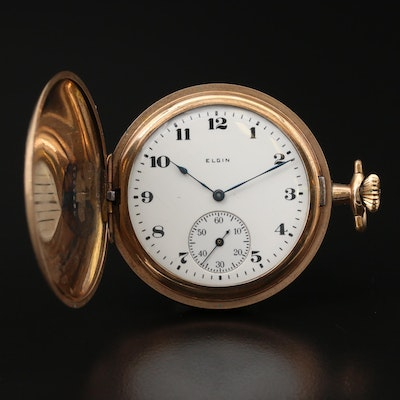 1920 Elgin Gold Filled Hunting Case Pocket Watch