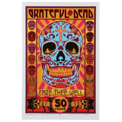 "David Edward Byrd Giclée ""The Grateful Dead, 50th, 1965 - 2015,"" 2021"