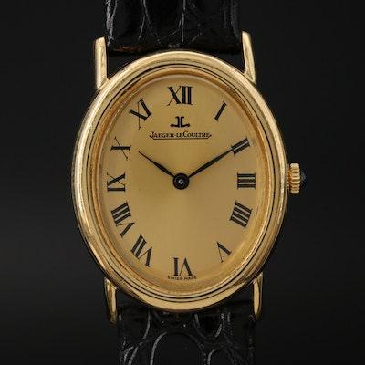 Vintage Jaeger-LeCoultre Ref. 9029 18K Gold Stem Wind Wristwatch
