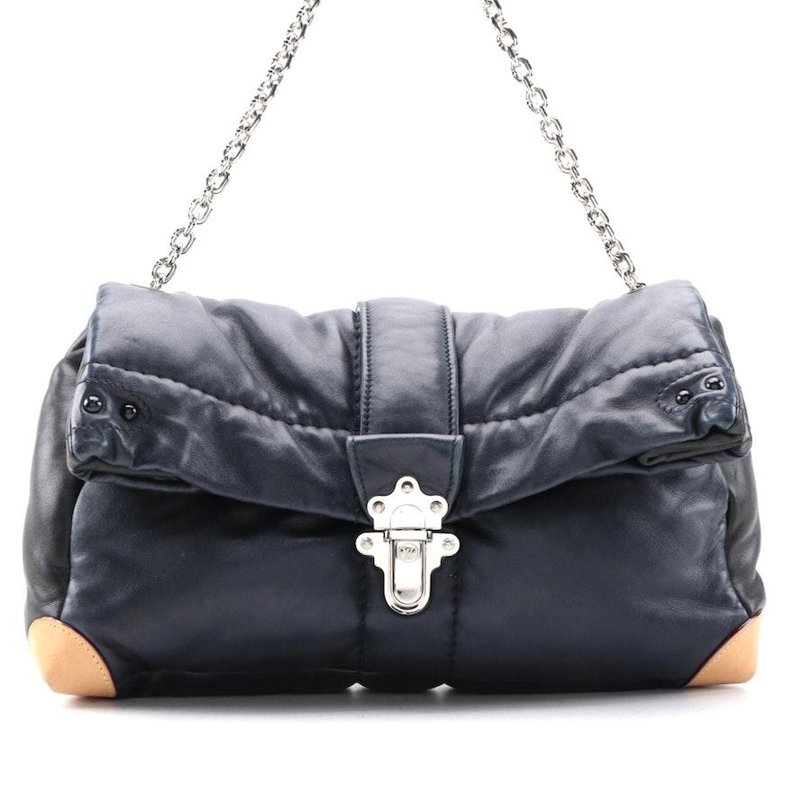 Louis Vuitton Cloud Clutch Bag GM in Lambskin and Vachetta Leather