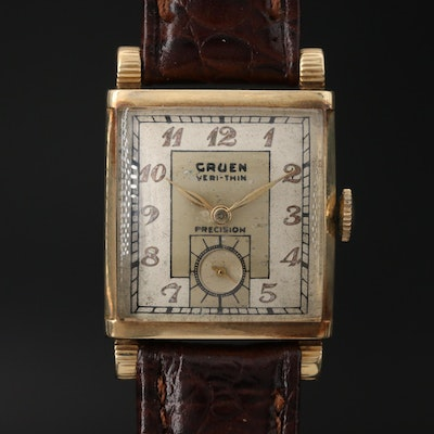 Gruen Veri Thin Precision 14K Gold Wristwatch, Circa 1942