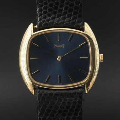 Vintage Piaget 18K Yellow Gold Stem Wind Wristwatch