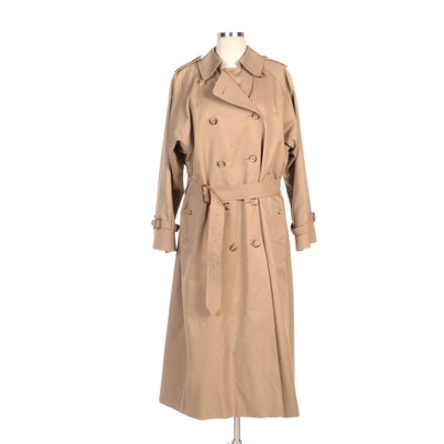 Women's Burberrys of London Classic Double-Breasted Trench Coat with Wool Liner