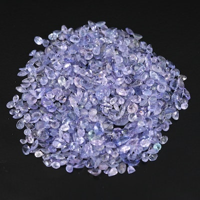 Loose 10.90 CTW Tanzanite Selection Featuring Various Shapes