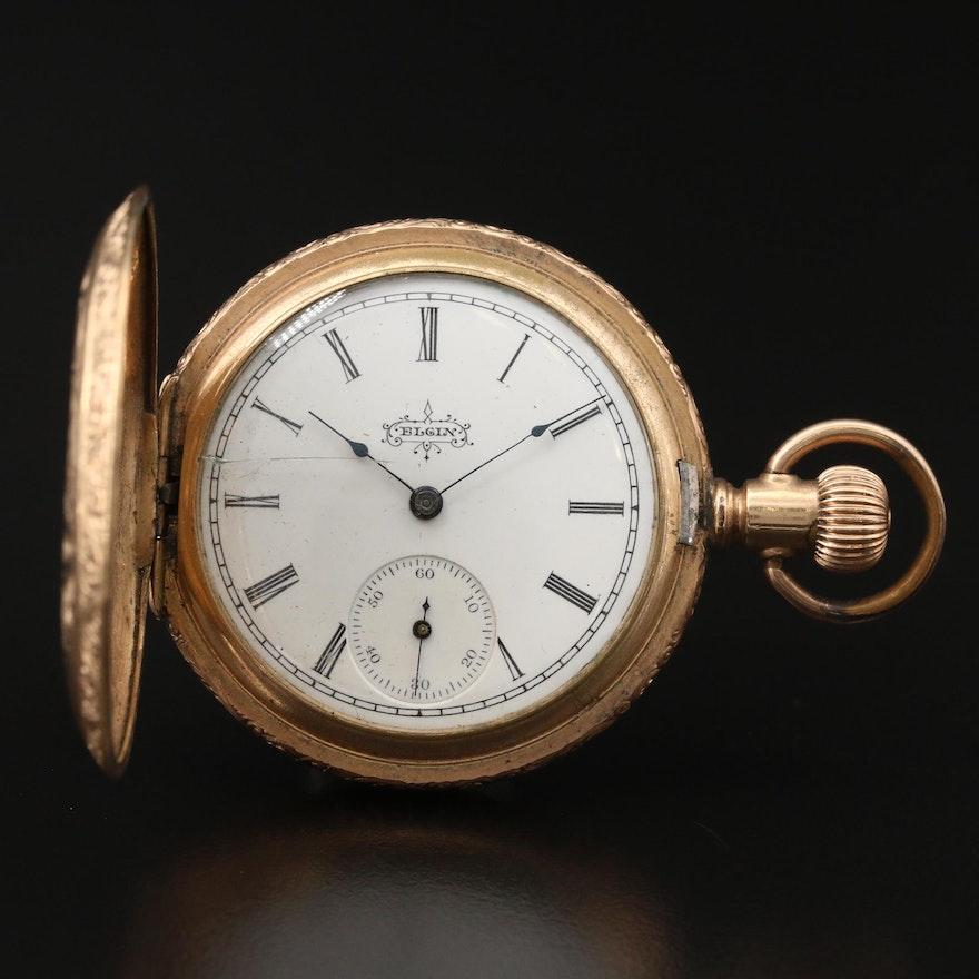 1897 Elgin Gold Filled Hunting Case Pocket Watch