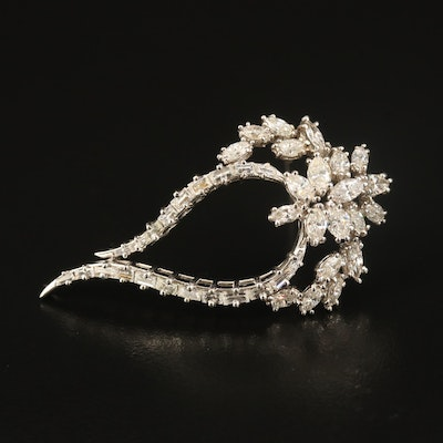 14K 3.27 CTW Diamond Converter Brooch