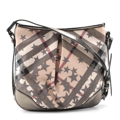 "Burberry Julia Crossbody in ""Nova Check with Stars"" Coated Canvas"