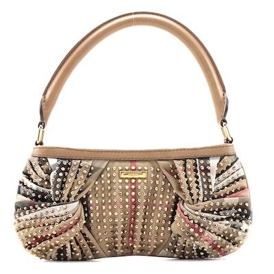 """Burberry """"Nova Check"""" with Stud Embellishments Sling Bag"""
