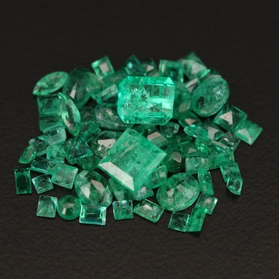 Loose 5.98 CTW Mixed Faceted Emeralds