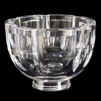 "Orrefors ""Thousand Windows"" Crystal Bowl Designed by Simon Gates"