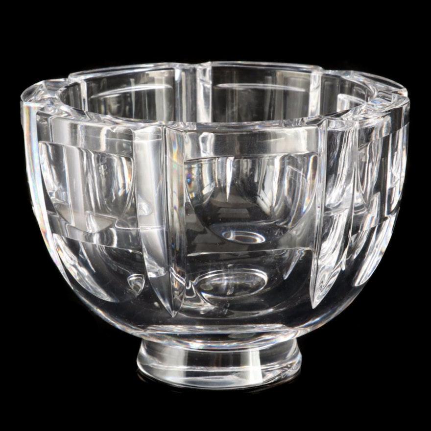 "Orrefors ""Thousand Windows"" Crystal Bowl Designed by Simon Gates"