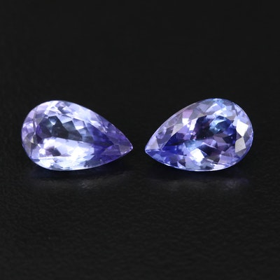 Matching Pair of Loose 4.61 CTW Tanzanites