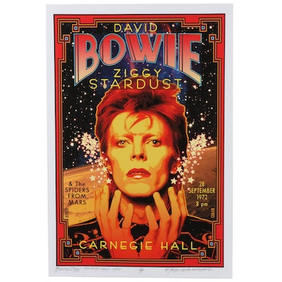 "David Edward Byrd Giclée ""Bowie/Ziggy - Carnegie Hall - 1972,"" 2021"