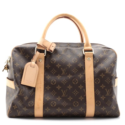 Louis Vuitton Carryall Weekender Bag in Monogram Canvas and Vachetta Leather
