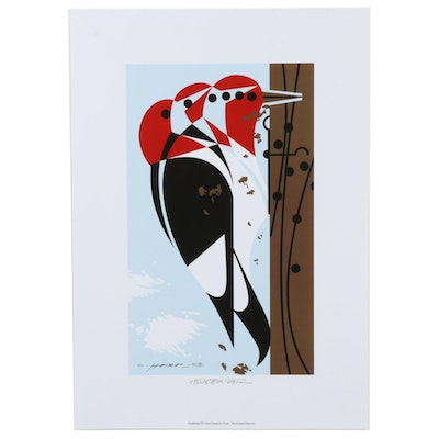 "Offset Lithograph after Charley Harper ""Head Banger,"" 21st Century"