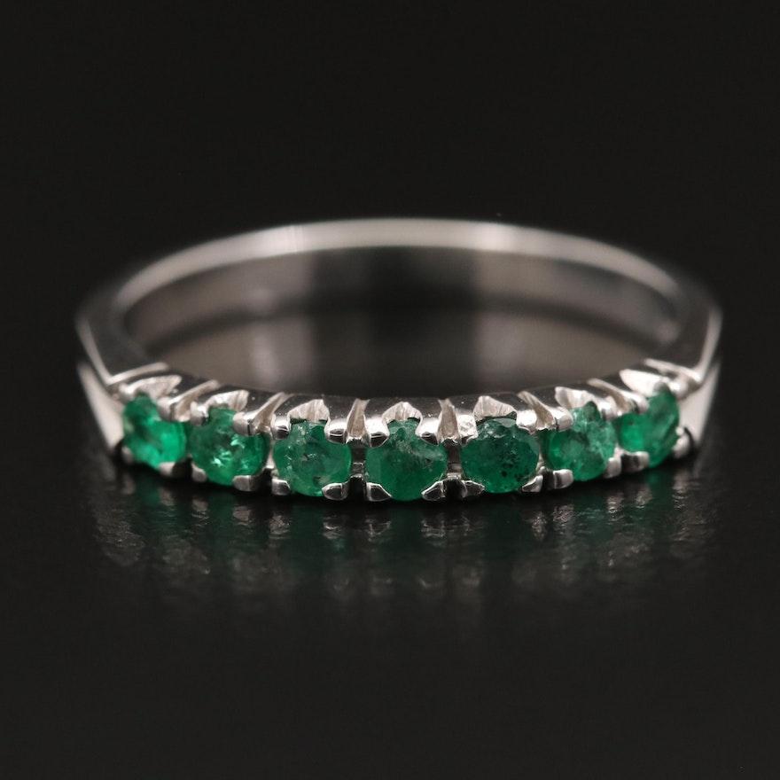 18K Emerald Band