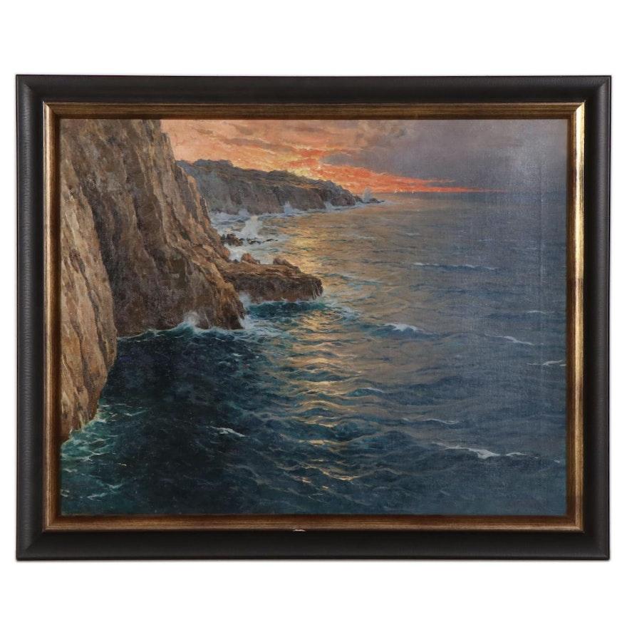 "Michele Federico Oil Painting ""Capri"""