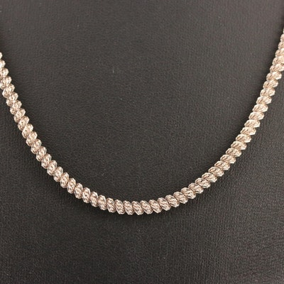 Sterling Silver Coiled Chain Necklace