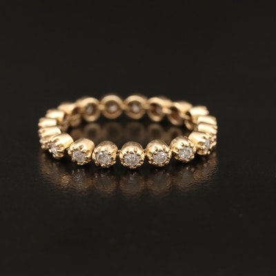 14K Diamond Articulating Link Eternity Band