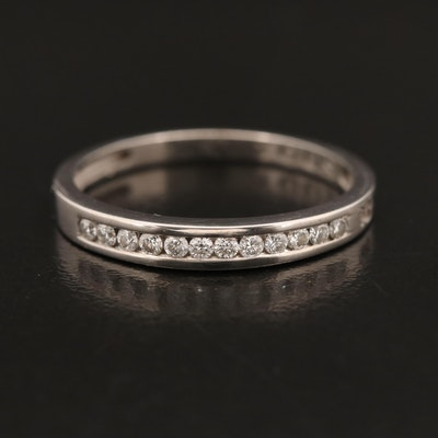 TOUS 18K Channel Set Diamond Band