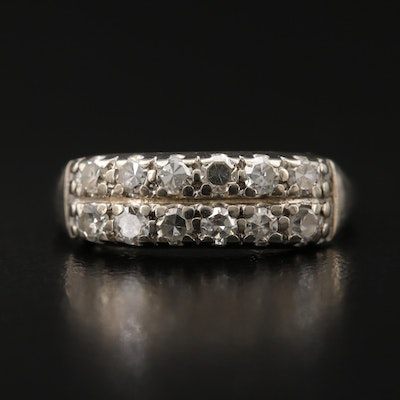 14K Diamond Multi-Row Band