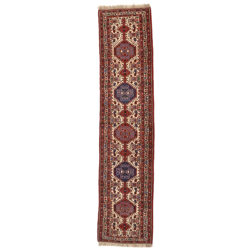 2'1 x 13'1 Hand-Knotted Persian Shiraz Carpet Runner