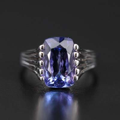 14K 4.05 CT Tanzanite Solitaire Ring