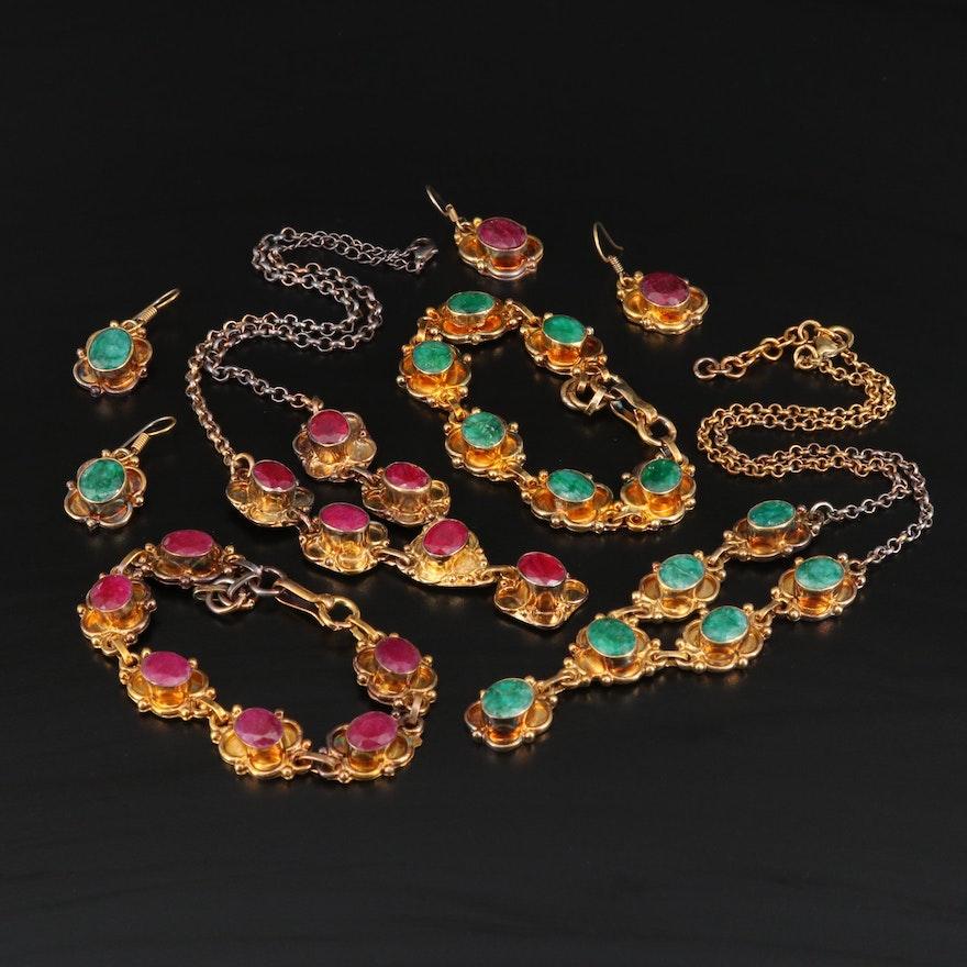 Sillimanite Necklace, Bracelet and Earring Sets