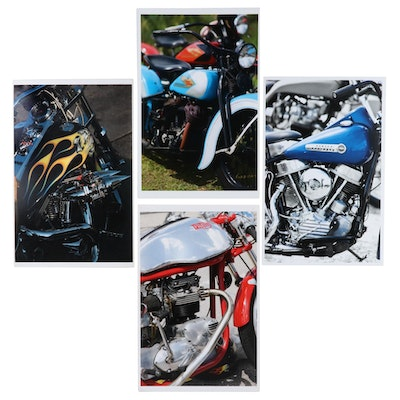 Jerry Irwin Offset Lithographs of Motorcycle Engines