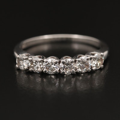 14K Diamond Band with Palladium Settings